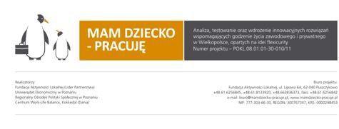 """MAM DZIECKO - PRACUJĘ - wyróżnienie """"Dobra Praktyka 2014"""""""