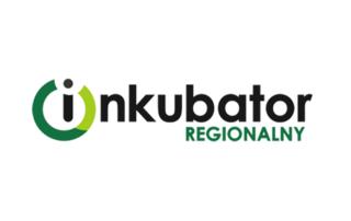 """Obraz przedstawia logo Inkubatora Regionalnego. Litera """"i"""" w słowie """"inkubator"""" jest otoczona zielonym kołem, które kojarzy się z symbolem włącznika."""