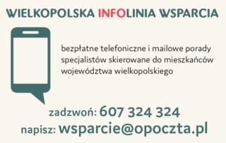 Wielkopolska Infolinia Wsparcia - informacja o bezpłatnym wsparciu specjalistów