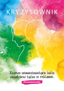 """Obraz przedstawia okładkę trzeciego wydania poradnika zdrowia psychicznego """"Kryzysownik"""". Plik PNG 163 KB"""